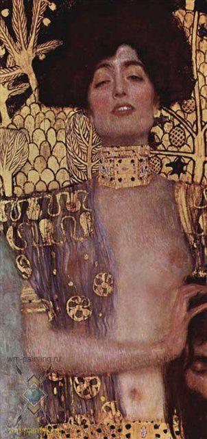 картина Юдифь с головой Олоферна :: Густав Климт, плюс статья - Французские люстры - Библейские сюжеты в живописи фото