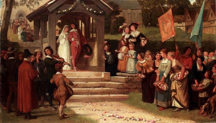 жанровая картина Путь из роз :: Уйльям Фредерик Джеймс - Цветы и натюрморты - картины художников прошлых веков фото