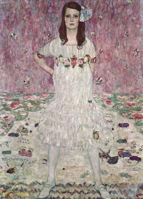 Портрет Евгении Примаверси :: Густав Климт - Gustav Klimt фото