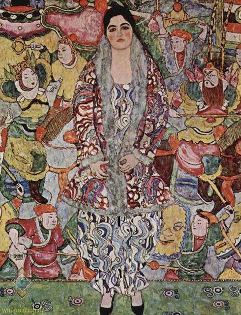Портрет Фредерики Марии :: Густав Климт - Gustav Klimt фото