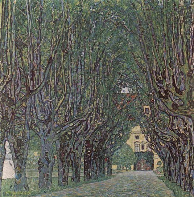 Аллея в парке замка Каммер - Gustav Klimt фото