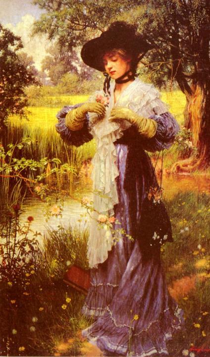 Нежно цветущие розы :: Уйльям Купер - Цветы и натюрморты - картины художников прошлых веков фото