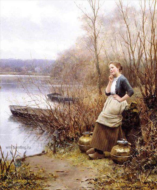 Любовные мысли :: Дэниэл Ридвей Найт - Романтические сюжеты в живописи фото