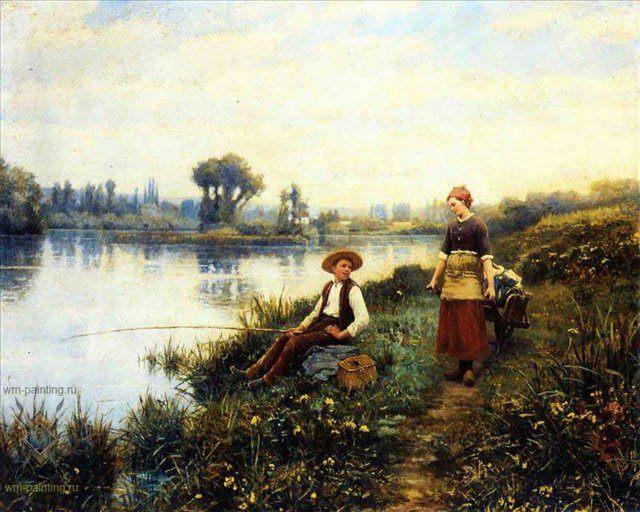 Мимолетная беседа :: Дэниэл Ридвей Найт - Романтические сюжеты в живописи фото
