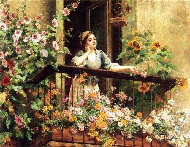 Волнующий момент :: - Цветы и натюрморты - картины художников прошлых веков фото