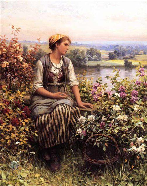 В мечтах :: Дэниэл Ридвей Найт - Цветы и натюрморты - картины художников прошлых веков фото