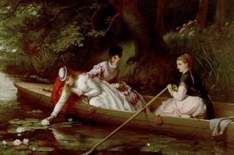 Лилии Темзы, художник Томас Брукс, описание картины - Цветы и натюрморты - картины художников прошлых веков фото