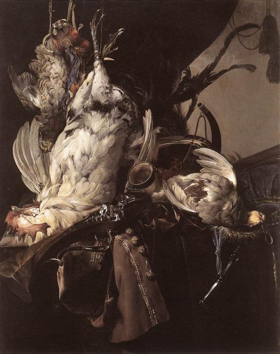 Охотничий натюрморт с дичью и оружием :: Вильям ван Аелст - Жанровые сцены фото