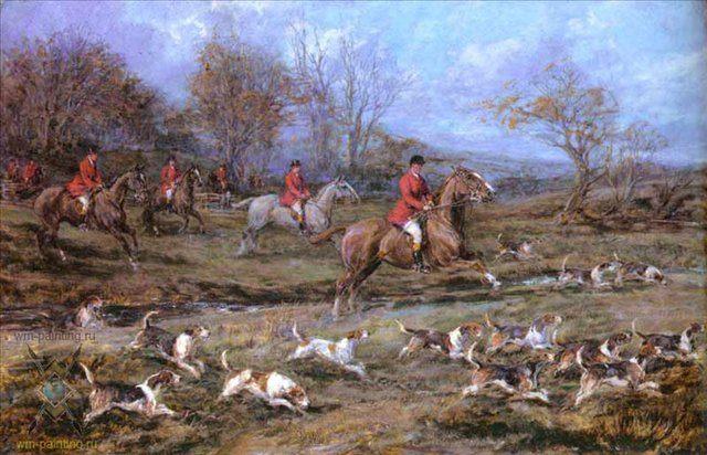 Во весь опор ( охотники на лошадях ) :: - Жанровые сцены фото