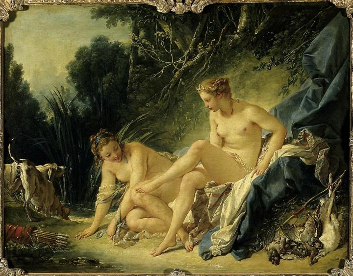 картина Диана (Артемида) после купания :: Француа Буше - Картины ню, эротика в шедеврах живописи фото