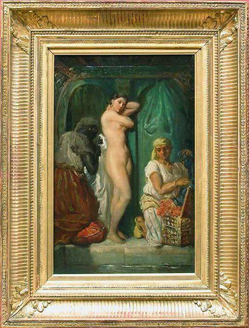 Баня в гареме :: Теодор Шассерио - Картины ню, эротика в шедеврах живописи фото