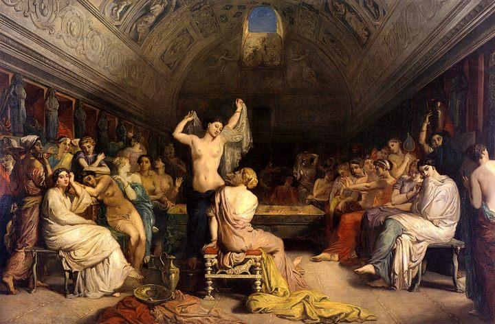 картина Терпидариум (женская баня) :: Теодор Шассерио - Картины ню, эротика в шедеврах живописи фото