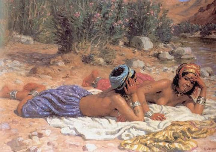картина Отдых купальщиц ( восточные девушки ) :: - Картины ню, эротика в шедеврах живописи фото