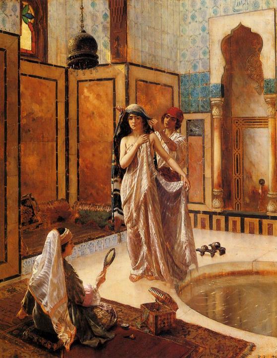 Баня в гареме :: Рудольф Эрнст - Картины ню, эротика в шедеврах живописи фото