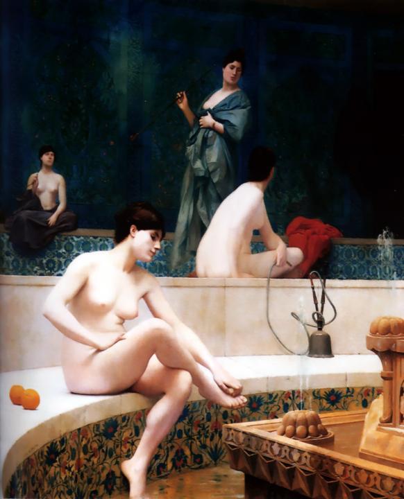 Турецкая баня в гареме :: Жан Леон Жероме, картина ню, эротика в живописи  - Картины ню, эротика в шедеврах живописи фото