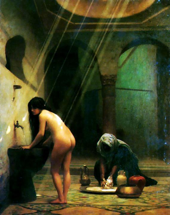 Турецкая девушка и мавританская баня :: Жан Леон Жером :: Жероме Жан Леон - Картины ню, эротика в шедеврах живописи фото