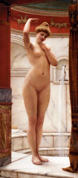 Римские бани :: Джон Уйльям Годвард, картина ню, эротика в живописи  - Картины ню, эротика в шедеврах живописи фото