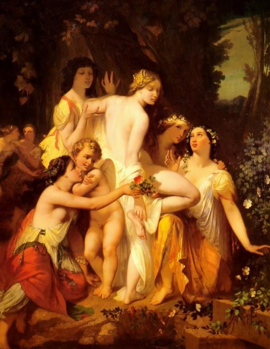 Купание Венеры ::  Август Глейз - Картины ню, эротика в шедеврах живописи фото