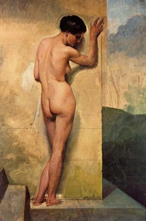 картина Обнажённая женщина (итальянка) :: Франческо Хейз - Картины ню, эротика в шедеврах живописи фото