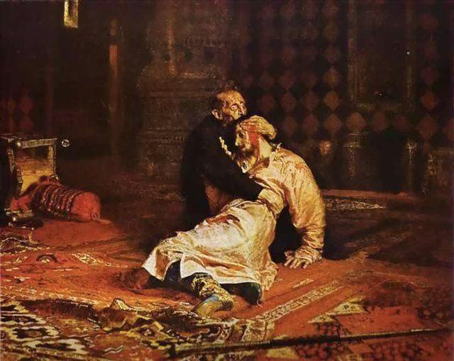 Иван Грозный над убитым сыном, 16 ноября 1581 :: Репин Илья Ефимович - Ilya Yefimovich Repin фото