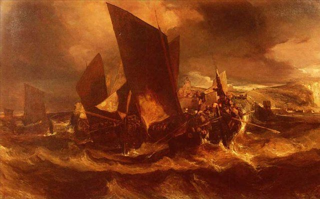 Возвращение в порт - Море в живописи ( морские пейзажи, seascapes ) фото
