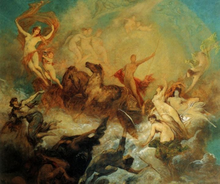 Победа света над тьмой :: Ханс Макарт (роспись потолка) - Античная мифология фото