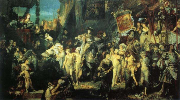 Вступление Карла V  в Антверпен :: Ханс Макарт, описание картины - Исторические сюжеты в живописи фото
