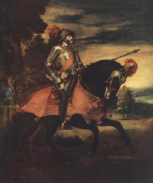 Портрет Карла V на коне  :: Тициан - Исторические сюжеты в живописи фото