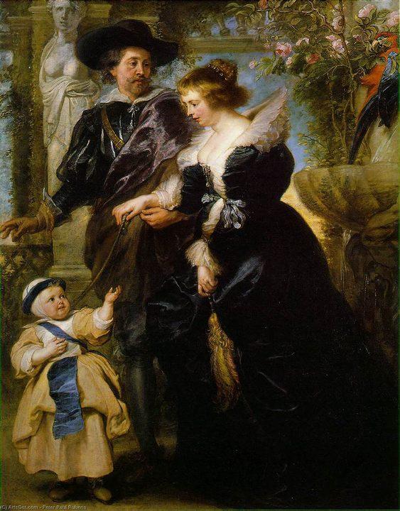 семейный портрет Рубенс, его жена и сын :: Рубенс Питер Пауль, описание картины - Peter Paul Rubens фото