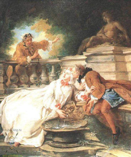Тревога поднятая служанкой :: Жан Француа Трой - Романтические сюжеты в живописи фото