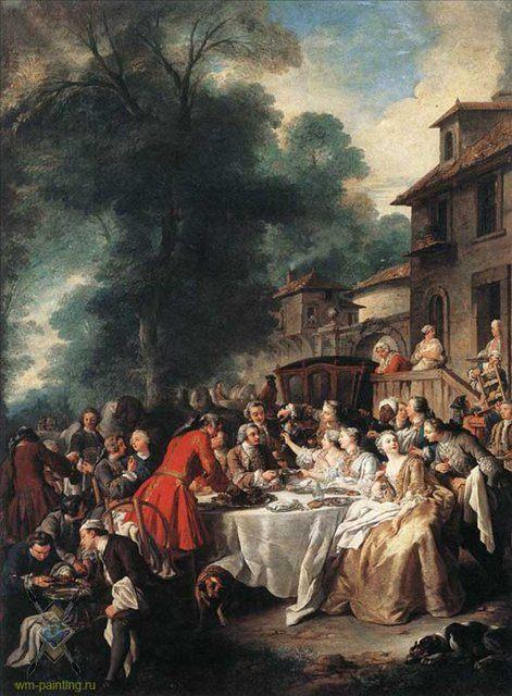 Обед после охоты :: Жан Француа Трой - Жанровые сцены фото