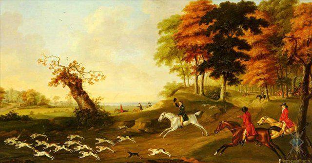 Охота на лисиц :: Джон Ност Саториус - Жанровые сцены фото