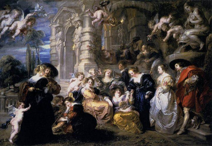 Сад любви :: Рубенс Питер Пауль, описание картины - Peter Paul Rubens фото