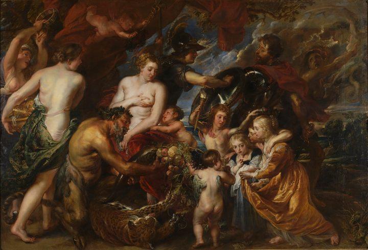 картина Война и Мир :: Питер Пауль Рубенс, плюс статья Украшения из галиотиса, Что такое галиотис? - Peter Paul Rubens фото