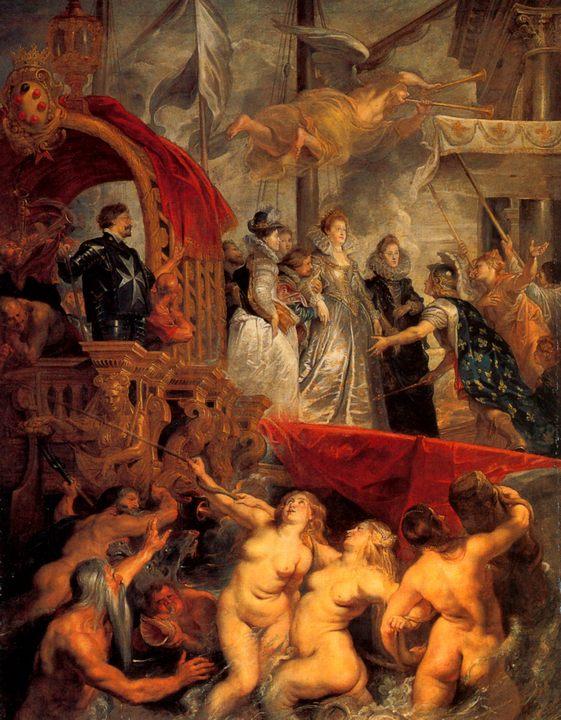 Прибытие Марии Медичи в Марсель :: Питер Пауль Рубенс, описание картины - Peter Paul Rubens фото