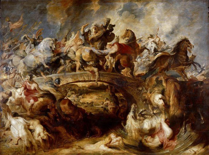 Битва с амазонками :: Питер Пауль Рубенс, описание картины - Peter Paul Rubens фото
