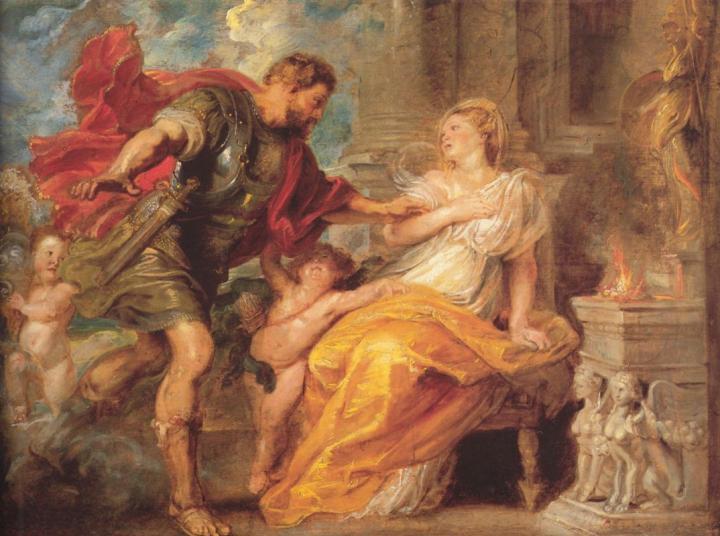 картина Марс и Рея Сильвия  :: Питер Пауль Рубенс - Peter Paul Rubens фото