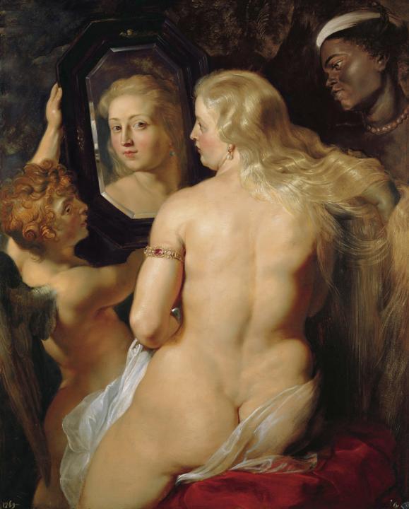 картина Обнажённая Венера перед зеркалом ::  Рубенс Питер Пауль, описание картины - Peter Paul Rubens фото
