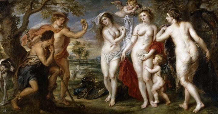 Суд Париса :: Питер Пауль Рубенс - (Peter Paul Rubens) Рубенс Питер Пауль фото