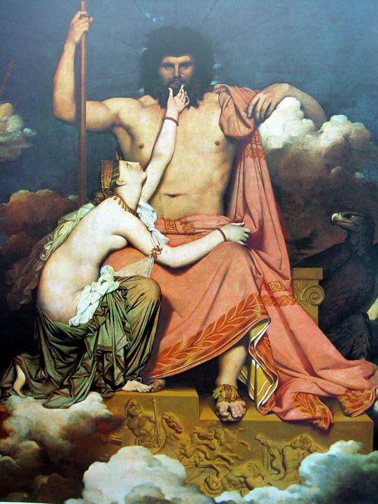 Юпитер и Фетида :: Жан Огюст Доминик Энгр - Античная мифология фото