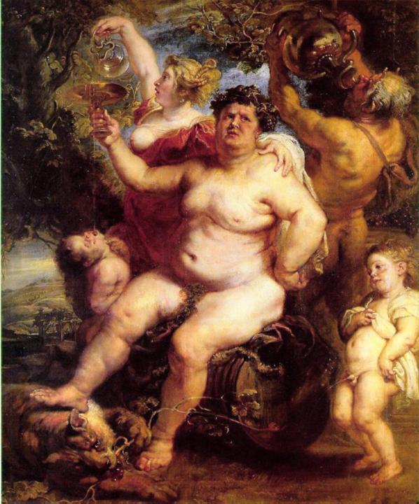 Бахус :: Питер Пауль Рубенс, описание картины - Peter Paul Rubens фото