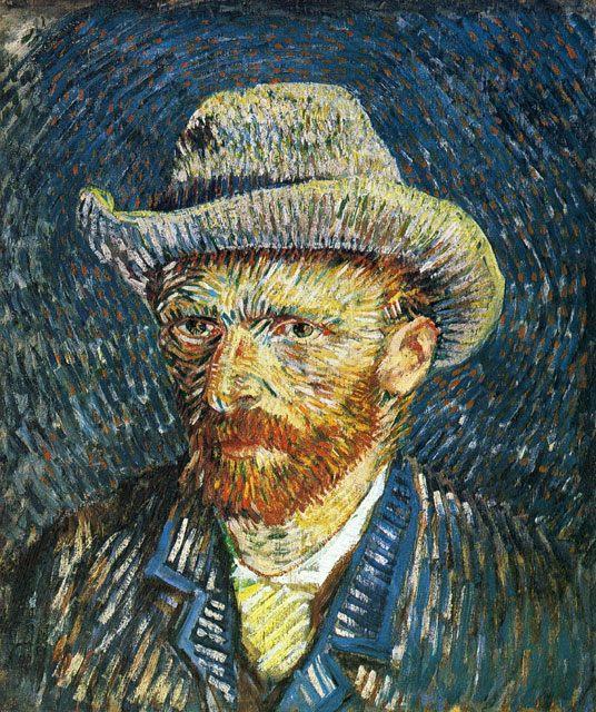 Автопортрет в фетровой шляпе :: Ван Гог, описание картины  - Van Gogh фото