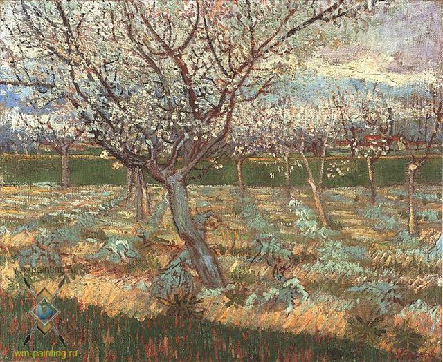 "пейзаж "" Цветущее абрикосовое дерево"" :: Ван Гог - Van Gogh фото"