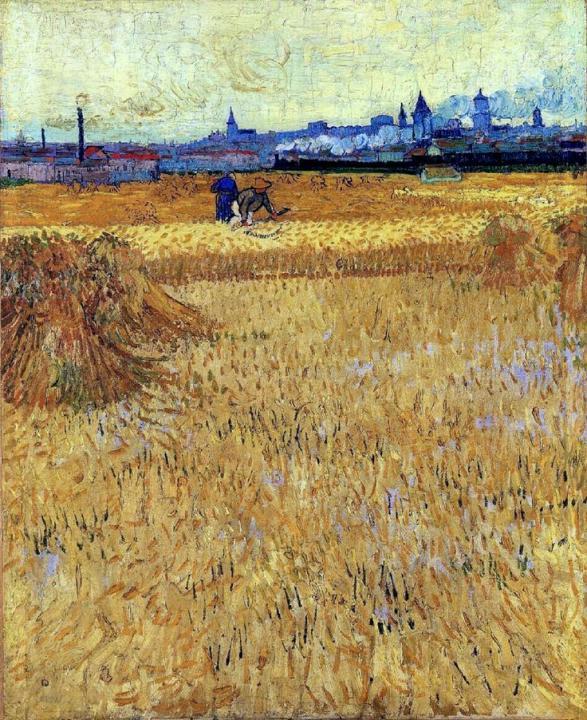 """пейзаж """"Вид на Арли с пшеничного поля"""" :: Ван Гог - Van Gogh фото"""