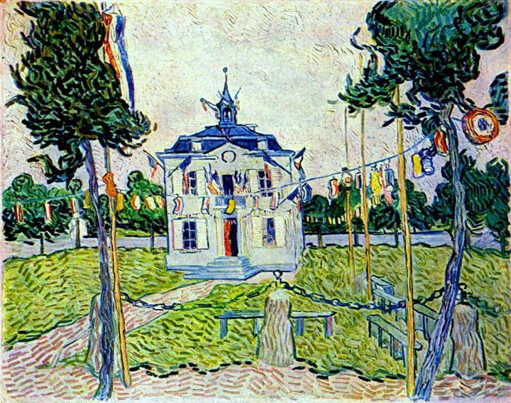 """городской пейзаж """"Ратуша Ауверс 14 июля 1890"""" :: Ван Гог - Van Gogh фото"""