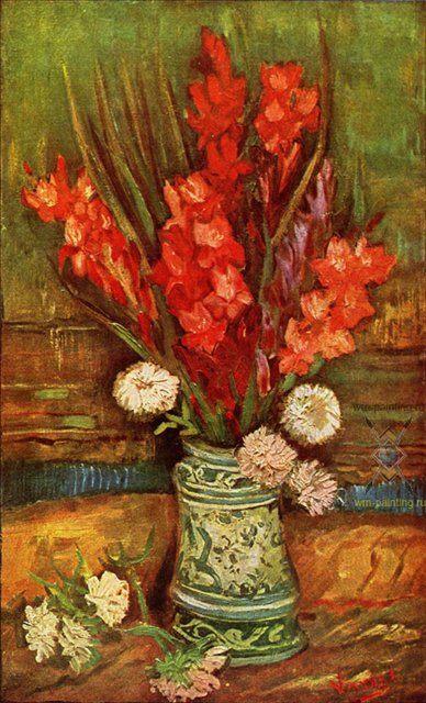 Натюрморт с красными гладиолусами :: Ван Гог - Van Gogh фото