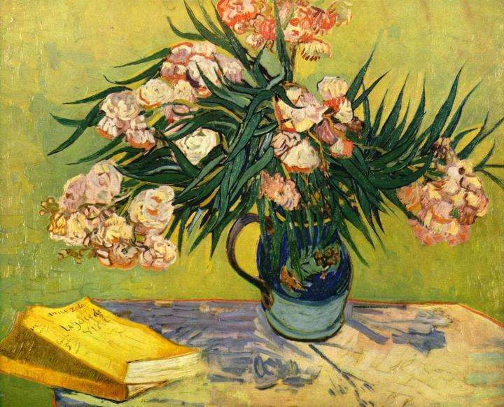 Олеандр :: Ван Гог - Цветы и натюрморты - картины художников прошлых веков фото