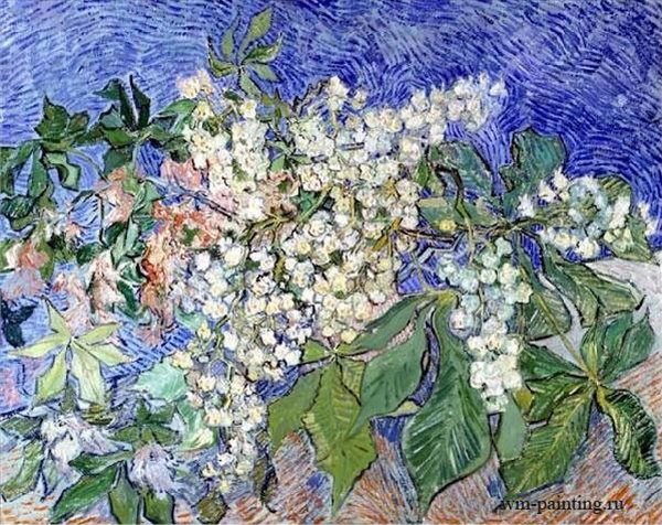 натюрморт Цветущие ветки каштана :: Ван Гог, описание картины - Van Gogh фото