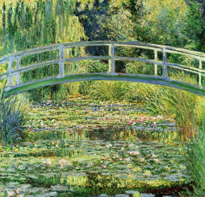 пейзаж Пруд с водными лилиями :: Клод Моне, картина, пейзаж, описание - Claude Monet фото