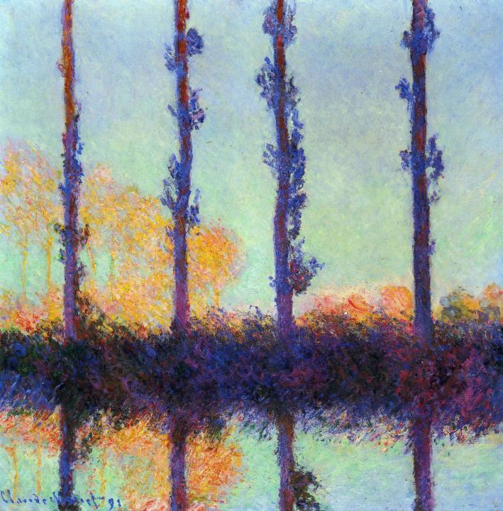 пейзаж Тополя :: Клод Моне ( Франция) - Claude Monet фото
